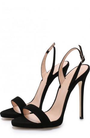 Замшевые босоножки Sophie на шпильке Giuseppe Zanotti Design. Цвет: черный