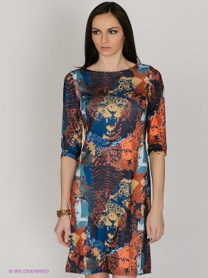 Платье Capriz. Цвет: синий, терракотовый, голубой