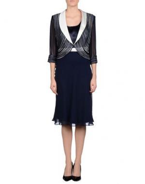 Классический костюм MUSANI COUTURE. Цвет: темно-синий