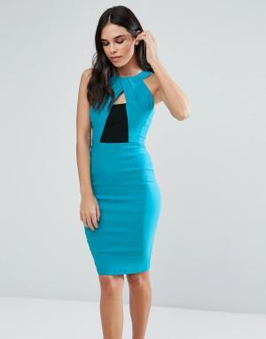 Vesper Платье-футляр с запахом спереди. Цвет: мульти