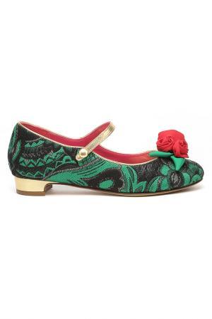 Туфли DOLCE & GABBANA. Цвет: зеленый-черный