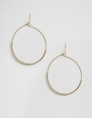 Orelia Тонкие серьги-кольца с бисером. Цвет: золотой