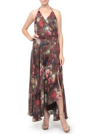 Платье с поясом Haute Hippie. Цвет: мультицвет