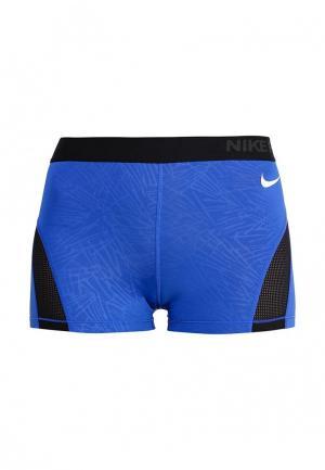 Шорты компрессионные Nike. Цвет: синий