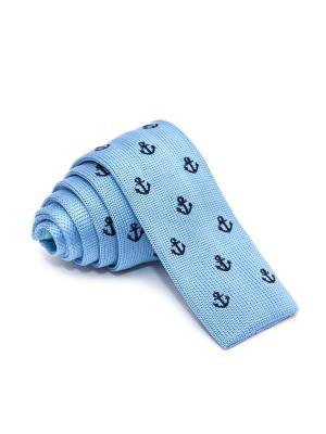 Галстук Churchill accessories. Цвет: голубой, светло-голубой, синий