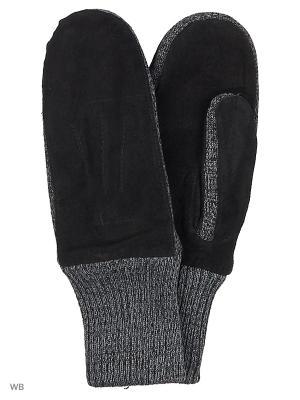 Варежки Malgrado. Цвет: черный, серый