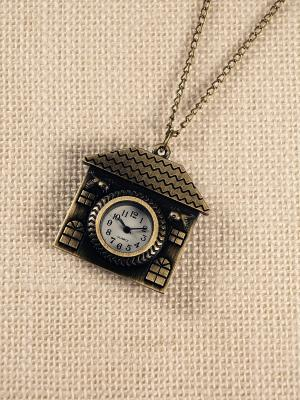 Кулон-часы Домик Mitya Veselkov. Цвет: бронзовый