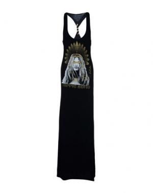 Длинное платье AU SOLEIL DE SAINT TROPEZ. Цвет: черный