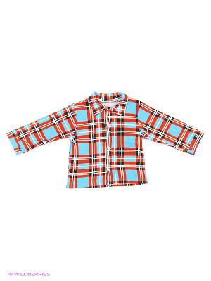 Рубашка Babycollection. Цвет: красный