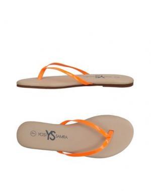 Вьетнамки YOSI SAMRA. Цвет: оранжевый