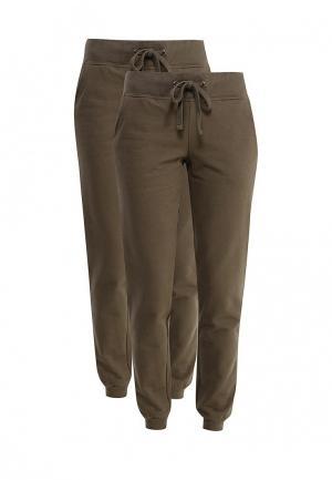 Комплект брюк 2 шт. oodji. Цвет: хаки