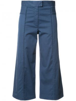Укороченные расклешенные брюки Veronica Beard. Цвет: синий