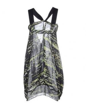 Короткое платье ZERO + MARIA CORNEJO. Цвет: темно-зеленый
