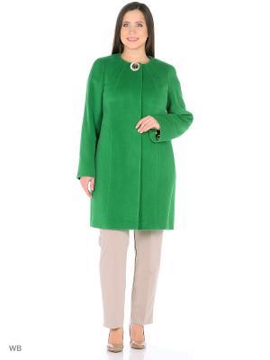 Пальто Lea Vinci. Цвет: светло-зеленый