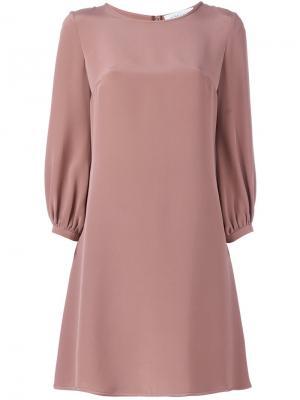 Расклешенное платье Gianluca Capannolo. Цвет: розовый и фиолетовый