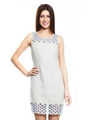 Платье TOPSANDTOPS. Цвет: светло-бежевый
