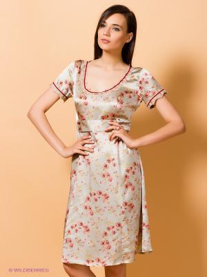 Платье Artwizard. Цвет: серый, персиковый