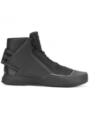 Кроссовки на шнуровке Y-3. Цвет: чёрный