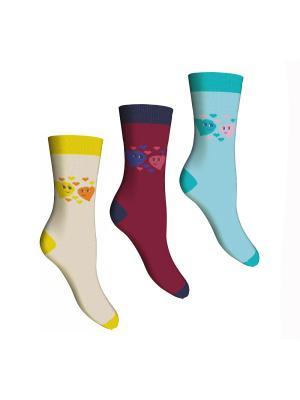 Носки, 3 пары Master Socks. Цвет: бежевый, бирюзовый, бордовый