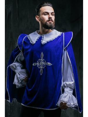 Костюм мушкетера La Mascarade. Цвет: серебристый, белый, синий