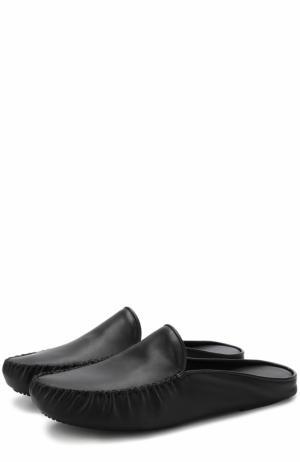 Домашние кожаные туфли Homers At Home. Цвет: черный