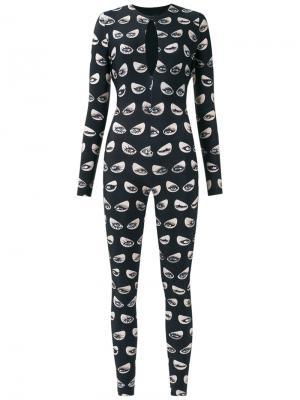 Printed jumpsuit Adriana Degreas. Цвет: чёрный