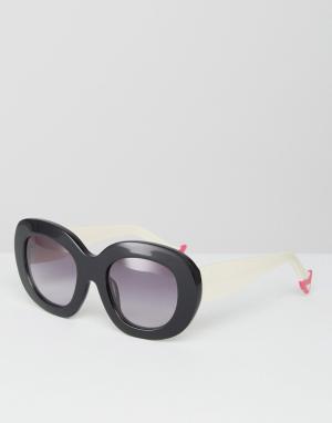 House of Holland Солнцезащитные очки с градиентными линзами Leggy. Цвет: черный