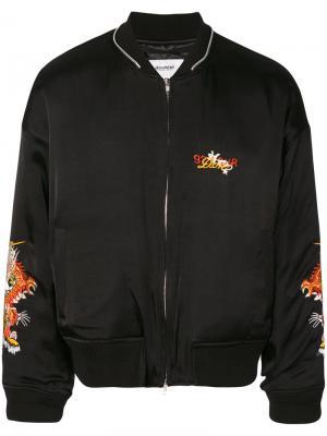 Embroidered bomber jacket Doublet. Цвет: чёрный