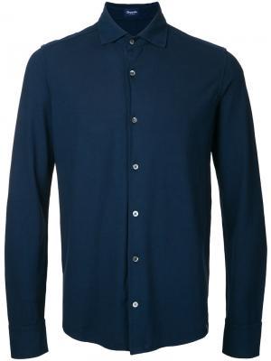 Однотонная рубашка Drumohr. Цвет: синий