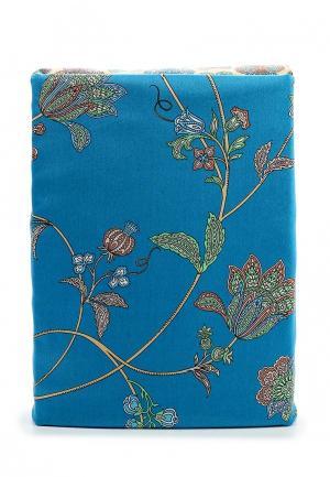 Комплект постельного белья Семейный Хлопковый Край. Цвет: синий