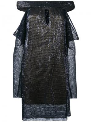 Sequin embellished dress La Mania. Цвет: синий