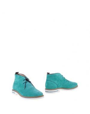 Полусапоги и высокие ботинки SNOBS®. Цвет: бирюзовый
