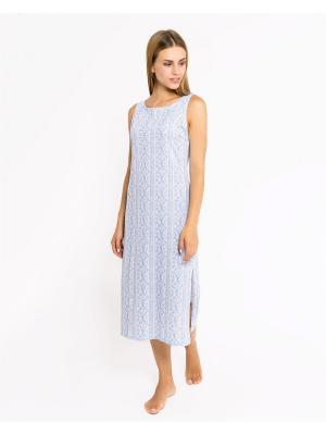 Ночная сорочка Mark Formelle. Цвет: серо-голубой, белый, серый