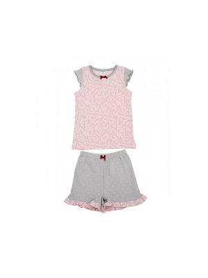 Пижама Модамини. Цвет: розовый, серый