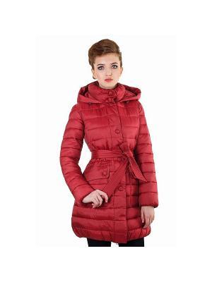 Пальто женское, Thinsulate DEFREEZE. Цвет: красный