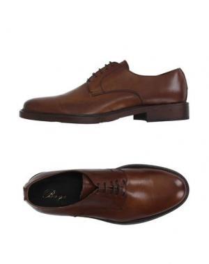Обувь на шнурках BAGE. Цвет: коричневый