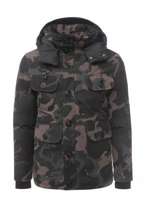 Куртка утепленная Gianni Lupo. Цвет: хаки