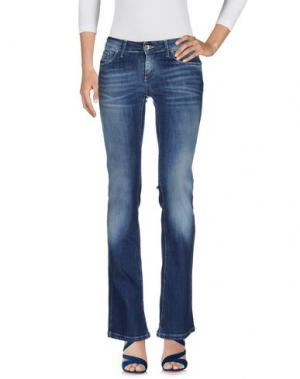 Джинсовые брюки MOTEL. Цвет: синий