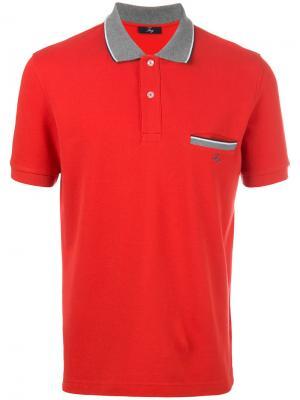 Contrast collar polo shirt Fay. Цвет: красный