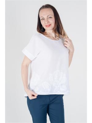 Блузка ОДЕКС-СТИЛЬ. Цвет: белый