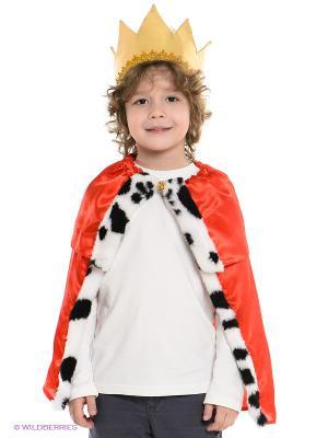 Карнавальный костюм Волшебный мир. Цвет: красный, золотистый