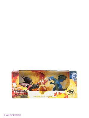 Игровой набор Драконы Happy Kin. Цвет: черный, синий, красный