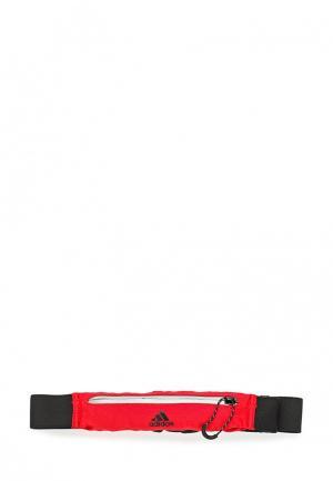 Пояс для бега adidas Performance. Цвет: красный