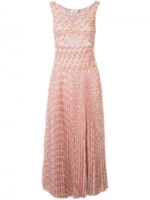 Плиссированное платье с вырезной деталью A.L.C.. Цвет: розовый и фиолетовый
