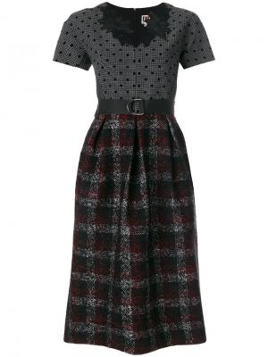 Платье с комбинированными панелями IM Isola Marras I'M. Цвет: многоцветный