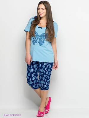 Пижама PELICAN. Цвет: голубой, темно-синий