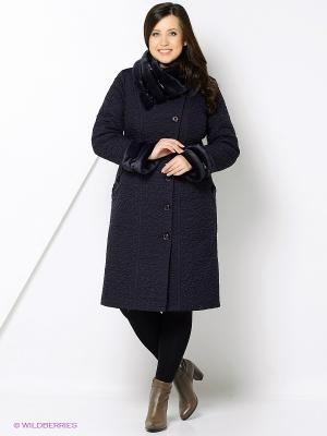 Пальто Brillare. Цвет: темно-синий