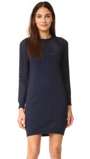 Трикотажное платье Georgie Ryder. Цвет: темно-синий
