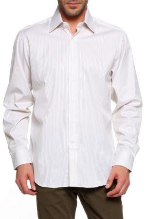 Рубашка Dormeuil. Цвет: молочный, бежевая полоска