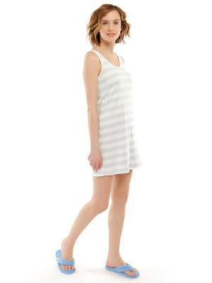 Ночная сорочка ТВОЕ. Цвет: белый, голубой